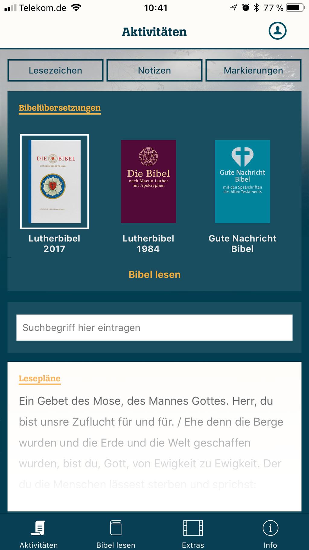 Online täglicher Bibelvers