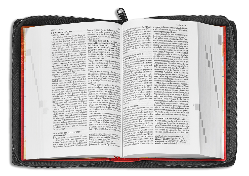 Bibelhülle aus LKW-Plane