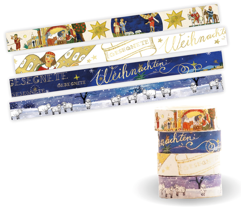 Washi Tapes Set,  Weihnachten