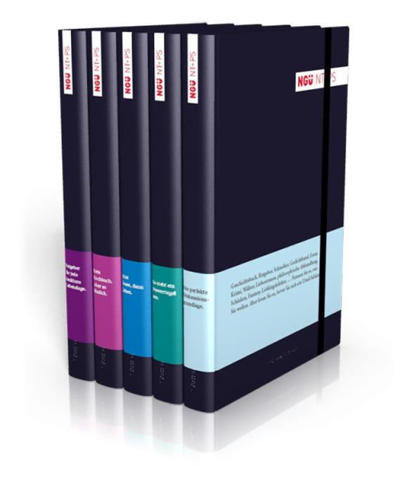 Die Banderolen der NGÜ gibt es in fünf Farben und jeweils einem Text, der ins Auge fällt.