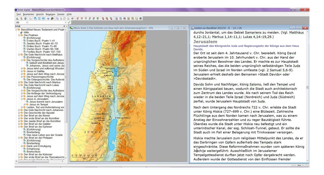Ansicht einer Sacherklärung mit Landkarte