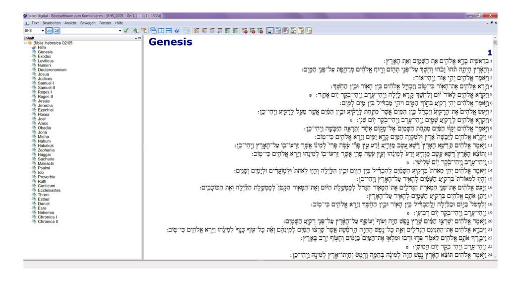 BIBELDIGITAL Biblia Hebraica Stuttgartensia