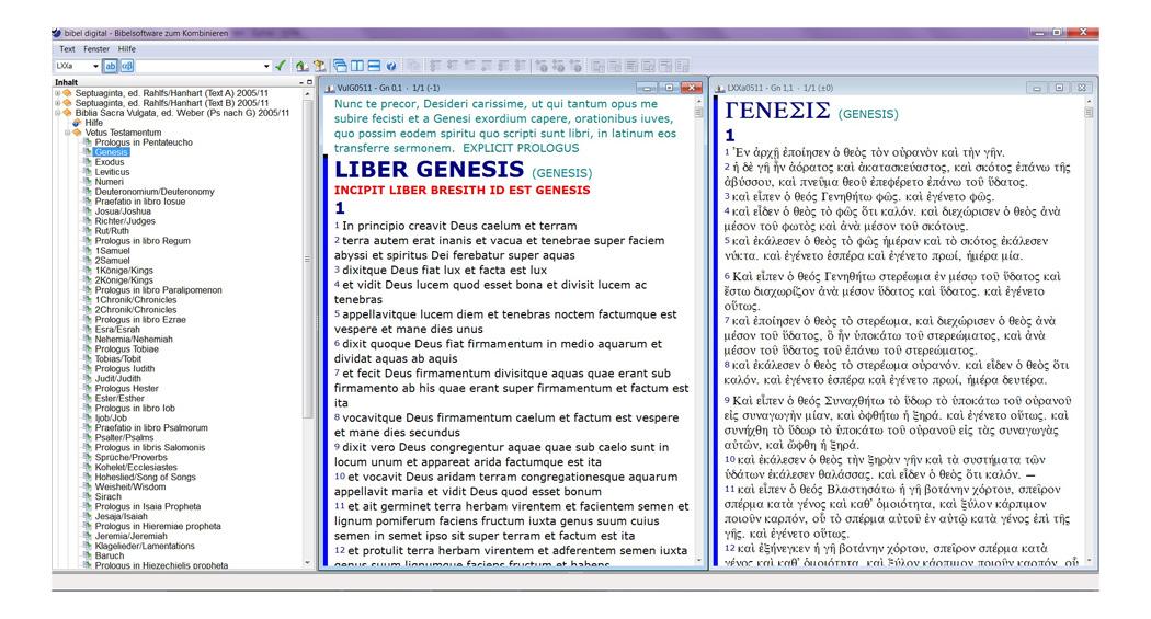 BIBELDIGITAL Septuaginta und Vulgata