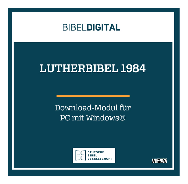 BIBELDIGITAL Lutherbibel 1984 (Download-Modul mit Lemma-Suche)
