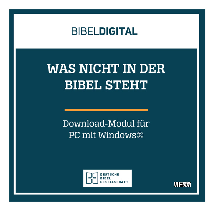 BIBELDIGITAL Was nicht in der Bibel steht (Download-Modul)