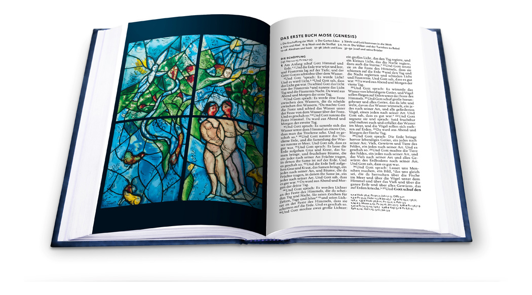 Lutherbibel. Mit Glasfenstern von Marc Chagall