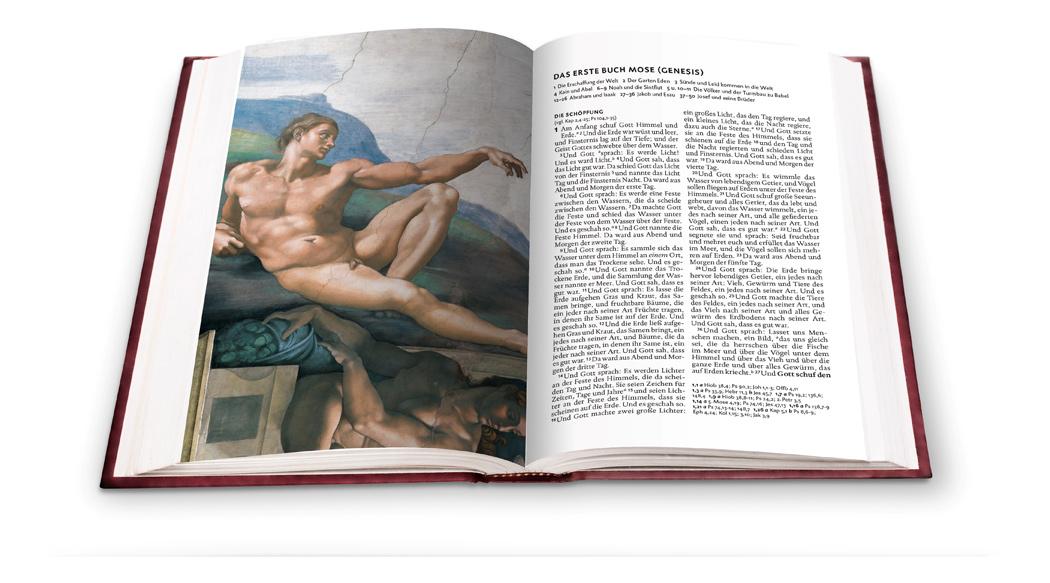 Lutherbibel mit Meisterwerken von Michelangelo