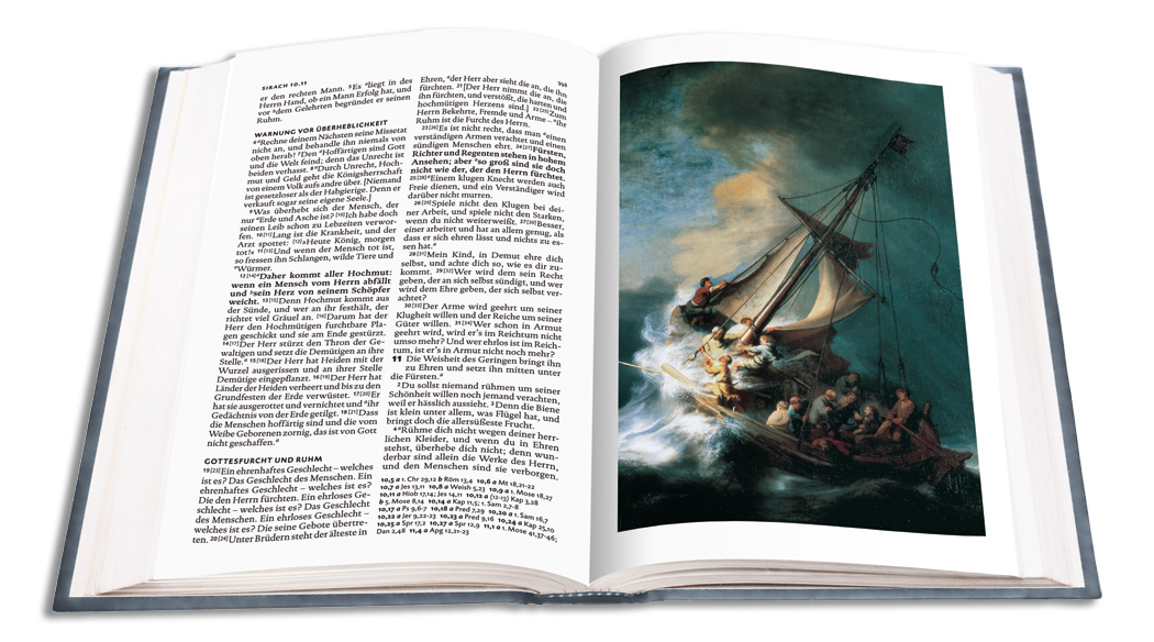 Lutherbibel mit Bildern von Rembrandt