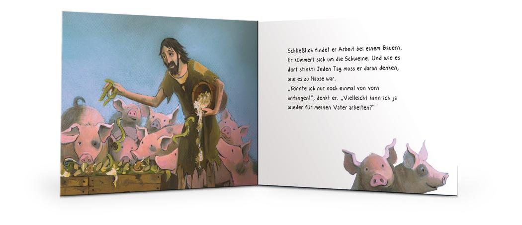 der verlorene sohn marijke ten cate biblische bilderb cher bibeln f r kinder und. Black Bedroom Furniture Sets. Home Design Ideas