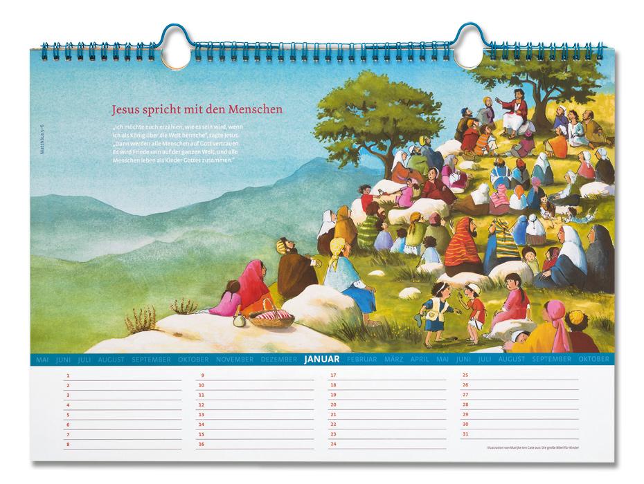 Kalenderseite Januar