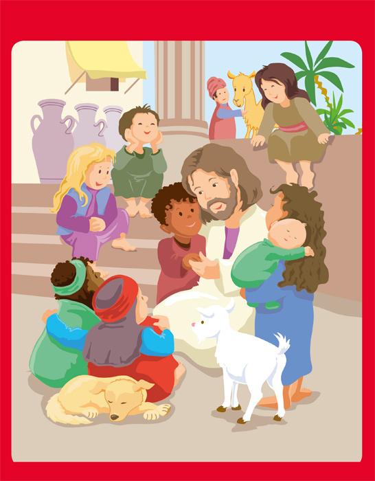 Gott liebt Kinder - Wasser-Überraschungs-Pinsel
