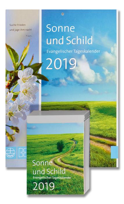 Sonne und Schild - Abreißkalender