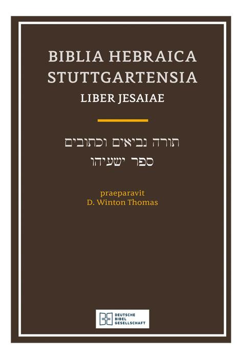 Biblia Hebraica Stuttgartensia - Liber Jesaiae