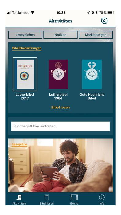 Die-Bibel.de als App | Lutherbibel 2017 | Themenwelten | Shop | Die ...